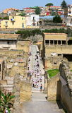 Herculaneum-vogel oog mening-iii-Italië Stock Fotografie