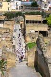 Herculaneum-vogel oog mening-iv-Italië Stock Afbeelding