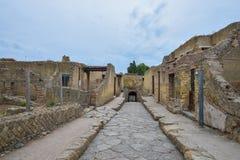 Herculaneum WŁOCHY, CZERWIEC, - 01: Herculaneum miasta antyczne rzymskie ruiny, Włochy na Czerwu 01, 2016 Zdjęcia Stock