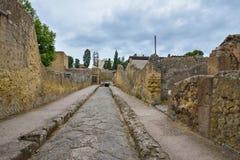Herculaneum WŁOCHY, CZERWIEC, - 01: Herculaneum miasta antyczne rzymskie ruiny, Włochy na Czerwu 01, 2016 Obraz Royalty Free