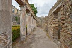 Herculaneum WŁOCHY, CZERWIEC, - 01: Herculaneum miasta antyczne rzymskie ruiny, Włochy na Czerwu 01, 2016 Obraz Stock
