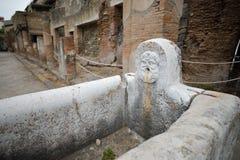 Herculaneum WŁOCHY, CZERWIEC, - 01: Herculaneum miasta antyczne rzymskie ruiny, Włochy na Czerwu 01, 2016 Obrazy Royalty Free