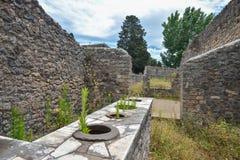 Herculaneum WŁOCHY, CZERWIEC, - 01: Herculaneum miasta antyczne rzymskie ruiny, Włochy na Czerwu 01, 2016 Fotografia Royalty Free