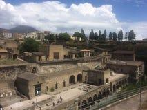 Herculaneum wioska Zdjęcia Stock