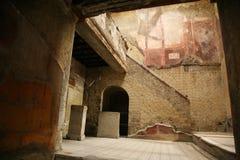 Herculanum antico del banco Fotografie Stock Libere da Diritti