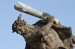 Hercule avec l'oiseau sur la tête Photos libres de droits