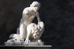 Hercule che uccide un leone Immagini Stock Libere da Diritti