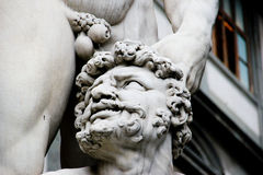 Chiuda su di Hercule e di Cacus, Firenze, Italia Fotografie Stock Libere da Diritti