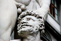 Slut upp av Hercule och Cacus, Florence, Italien Royaltyfria Foton