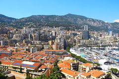 Hercule port and La Condamine, Monaco Royalty Free Stock Image