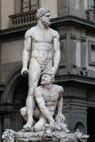 Hercule statue on Piazza della Signoria in Florence Stock Photos
