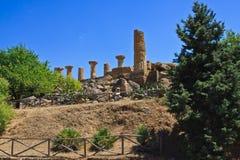Hercules świątynny Agrigento - świątynie dolinne Obrazy Stock