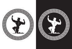 Hercules μέσα σε μια ελληνική βασική πίσω άποψη Στοκ φωτογραφία με δικαίωμα ελεύθερης χρήσης