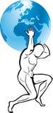 άτλαντας Hercules Στοκ εικόνα με δικαίωμα ελεύθερης χρήσης