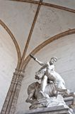Hercules beating the centaur Nessus statue in Florence, Italy Stock Images