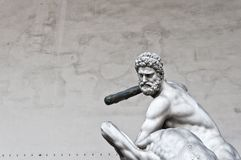 Hercules beating the centaur Nessus statue in Florence, Italy Stock Photography