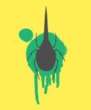 Hercules Beetle Insect Vector Silhouette Fotografia Stock Libera da Diritti