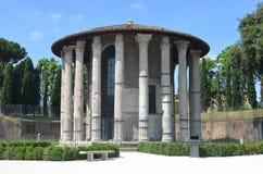 Όψη του ναού του φόρουμ Hercules Boario. Στοκ Φωτογραφία