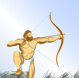 Hercules with bow Stock Image