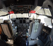 Hercules C 130 US Air Force - cockpit Royalty Free Stock Image