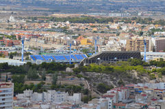 Hercules C.F. Alicante City Center Football Ground - Athletics Stadium Stock Image