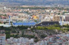 Hercules C.F. Alicante City Center Football Ground - Athletics Stadium Stock Image