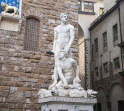 Hercules and Cacus - Florence. ,Exquisite sculptures Royalty Free Stock Photography