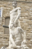 Hercules and Cacus front of the museum Palazzo Vecchio Florence Stock Images