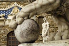Hercules and Cacus sculpture royalty free stock photos