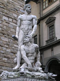 Hercules and Cacus at Signoria square in Florence, Italy Stock Photography