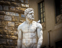 Hercules and Cacus statue by Bandinelli Royalty Free Stock Images