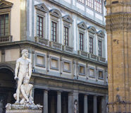Hercules and Cacus Uffizi Gallery. Bartolommeo Bandinelli's statue of Hercules and Cacus located in the Piazza della Signoria in Florence, Italy; in front of the Royalty Free Stock Image