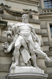 Hercules and Cerberus in Hofburg palace, Vienna, Austria Royalty Free Stock Images