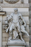 Hercules and Cerberus. Statue at the Royal Palace Hofburg in Vienna, Austria Royalty Free Stock Photography