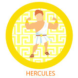 Hercules Coin. Hercules in the the greek coin Vector Illustration