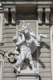 Hercules die de Kretenzische Stier bestrijdt Stock Fotografie