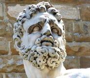 Hercules door Baccio Bandinelli buiten Palazzo Vecchio op Piazza della Signoria, Florence, Italië stock foto's