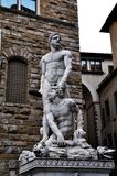 Hercules en Cacus in Florence. Italië. Royalty-vrije Stock Afbeelding