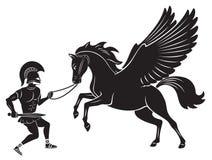 Hercules en Pegasus Royalty-vrije Stock Fotografie