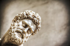 Hercules face in Hercules and Nesso centaur statue Royalty Free Stock Images