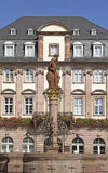 Hercules Fountain. In front of the town hall of Heidelberg, Baden-Wuerttemberg, Germany Stock Photo
