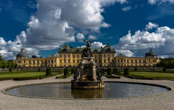 Hercules Fountain con vistas a Royal Palace Drottningholm Fotografía de archivo