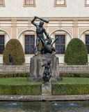 The Hercules Fountain in Wallenstein Garden, Prague stock photography