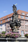 Hercules fountain of Zittau in Germany Stock Photo
