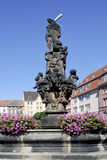 Hercules fountain of Zittau in Germany Stock Image