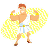 Hercules. In the the greek legend Vector Illustration