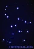 Hercules gwiazdozbiór Obrazy Royalty Free
