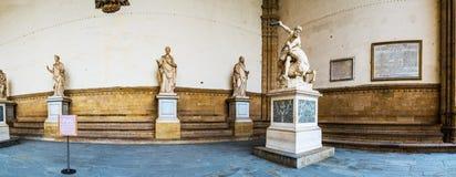 Hercules i Nessus Loggii dei Lanzi w Florencja Obraz Stock