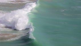 Hercules macha w burzy w Sagres algarve plażowy bispo costa robi murra vicentina o Portugal Vila zbiory wideo