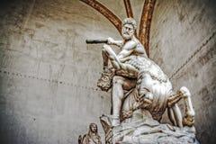 Hercules and Nesso centaur statue in Loggia dei Lanzi Royalty Free Stock Photos